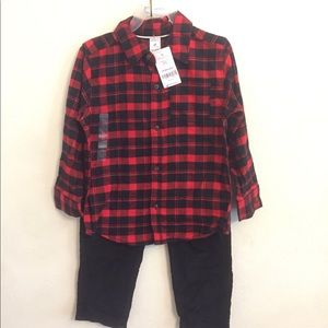 New with tags 4t red plaid outfit